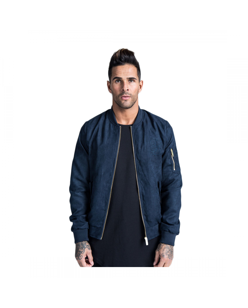 Sik Silk Suede Bomber Navy