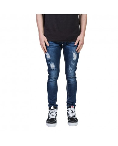 SUMMIT Destroyed Denim - Dark Blue