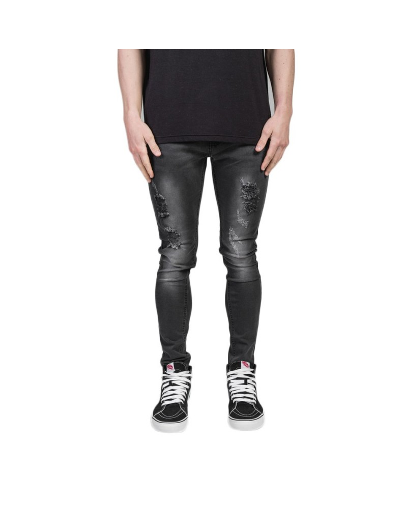 SUMMIT Destroyed Denim - Washed Black