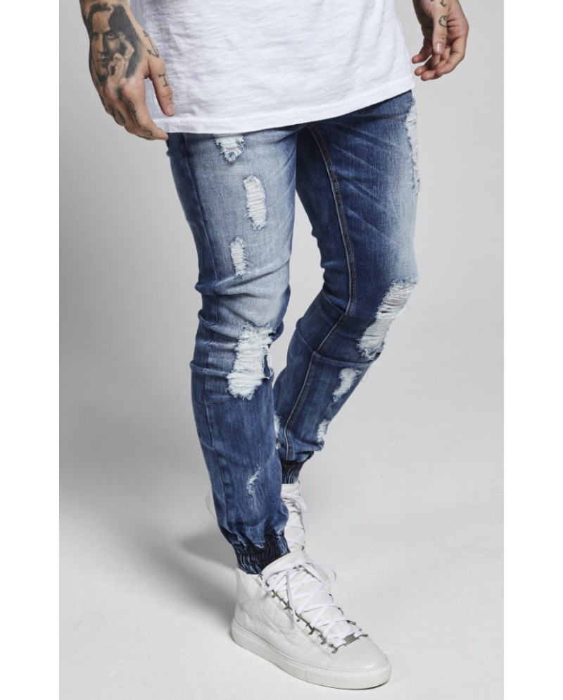 Sik Silk Low Rise Cuffed Jeans