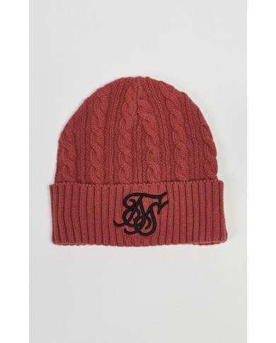 Sik Silk Cable Knit Beanie