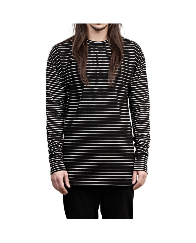 Favela Black-white Striped Longsleeve