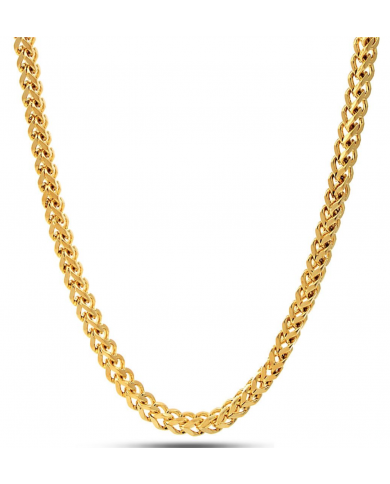 King Ice 14K Gold 6mm Stainless Steel Franco Chain