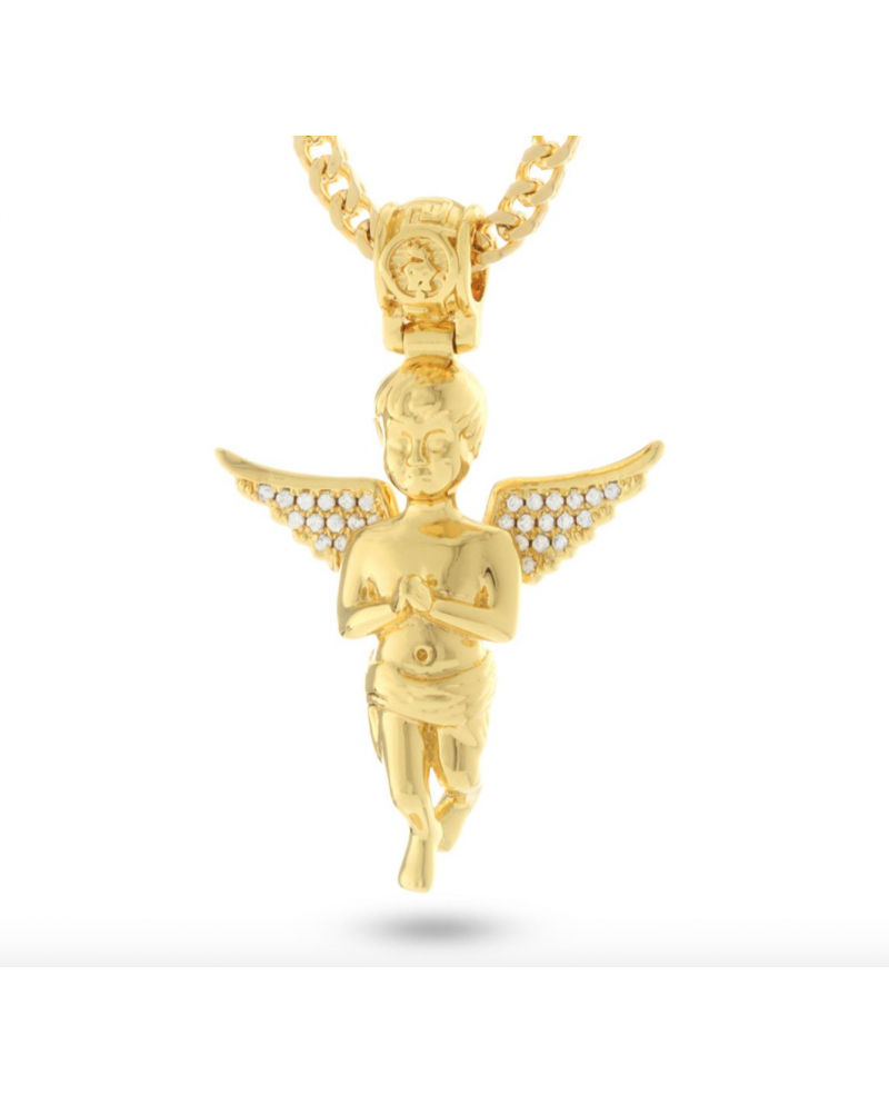 King Ice 14K Serenity Angel Necklace