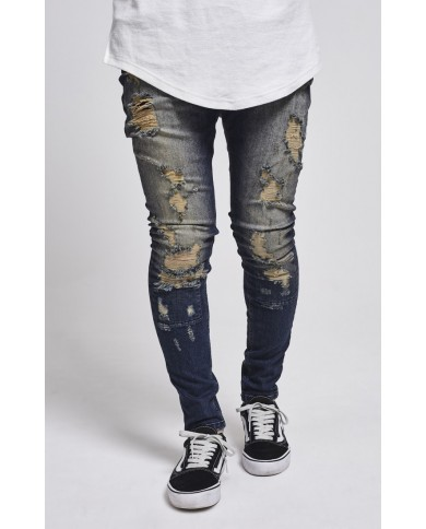 Sik Silk Drop Crotch Skimshred Jeans