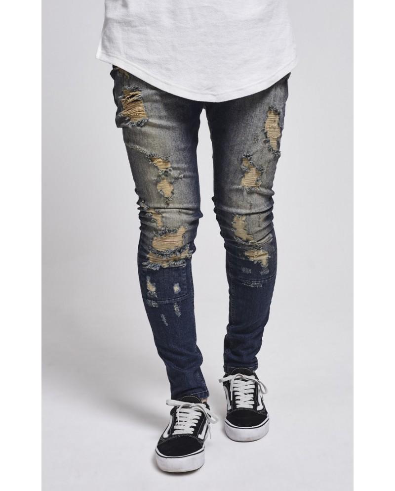 Sik Silk Drop Crotch Skimshred Jeans