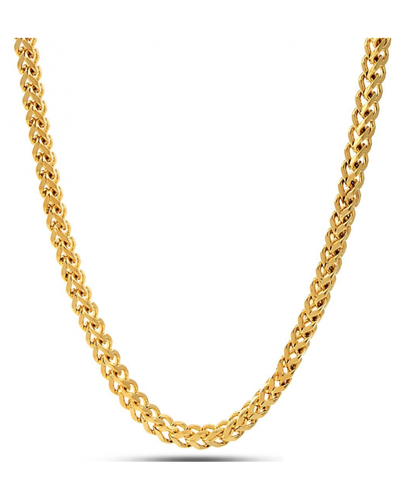 King Ice 14K Gold 5mm Stainless Steel Franco Chain