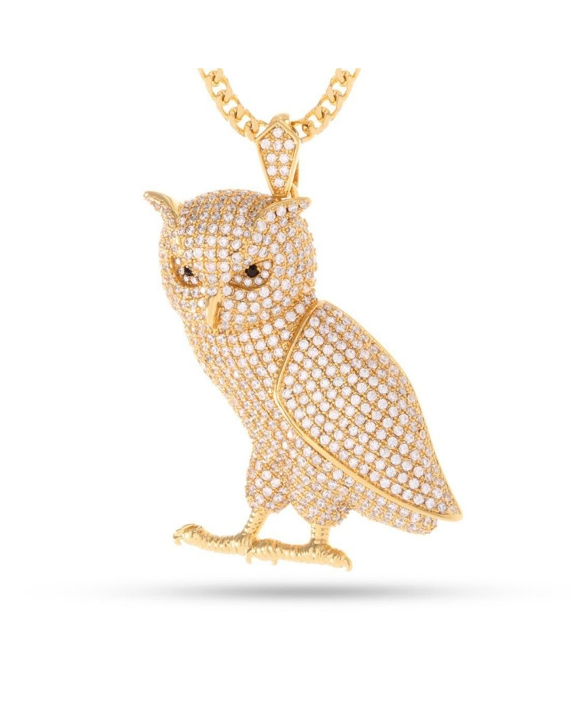 King Ice The Owl Necklace