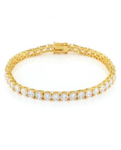 King Ice 5mm Single Row CZ Pharaoh Bracelet