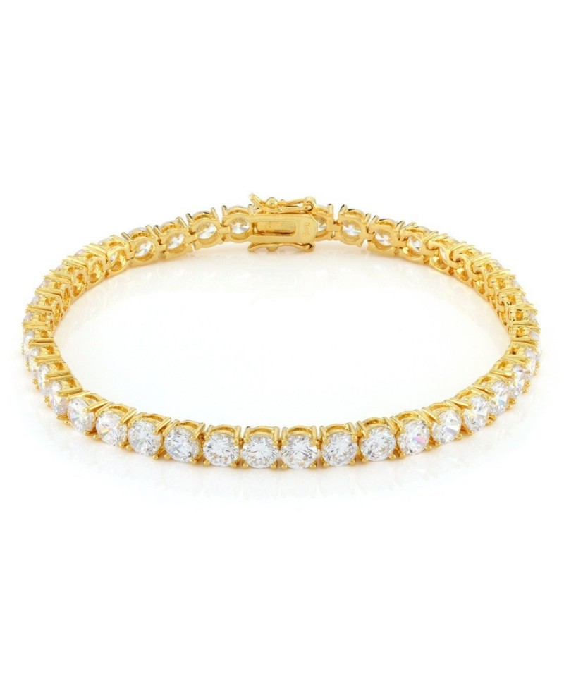 King Ice 5mm Single Row CZ Pharaoh Bracelet