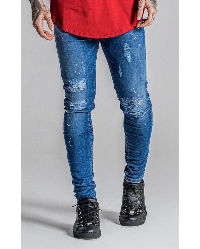 Gianni Kavanagh Blue Jeans Paint Splats