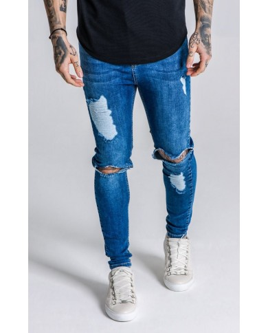 Gianni Kavanagh Blue Distressed Jeans