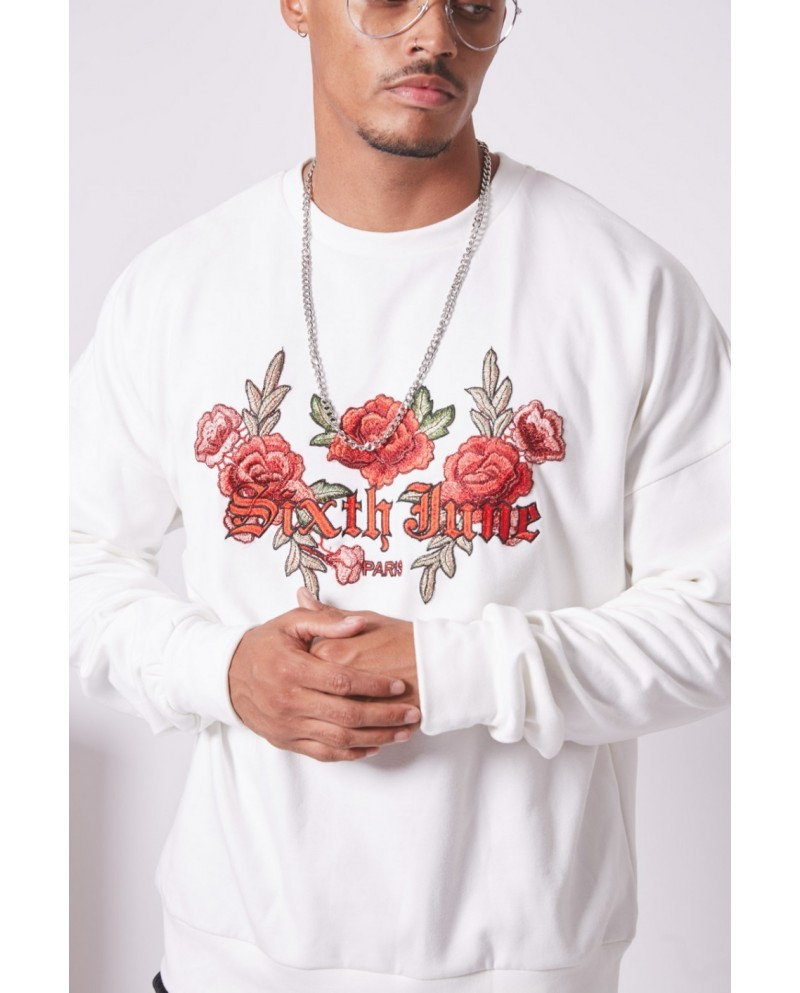 Sixth June Embroidered Sweatshirt Roses