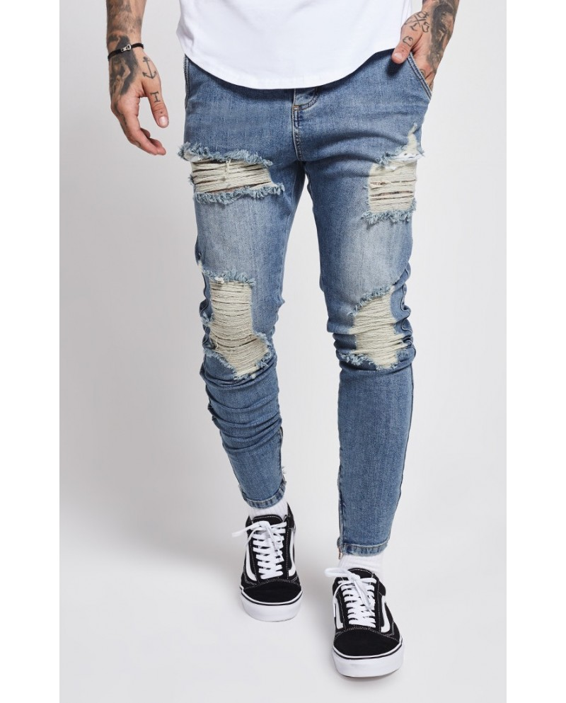 Sik Silk Overworked Low Rise Denim