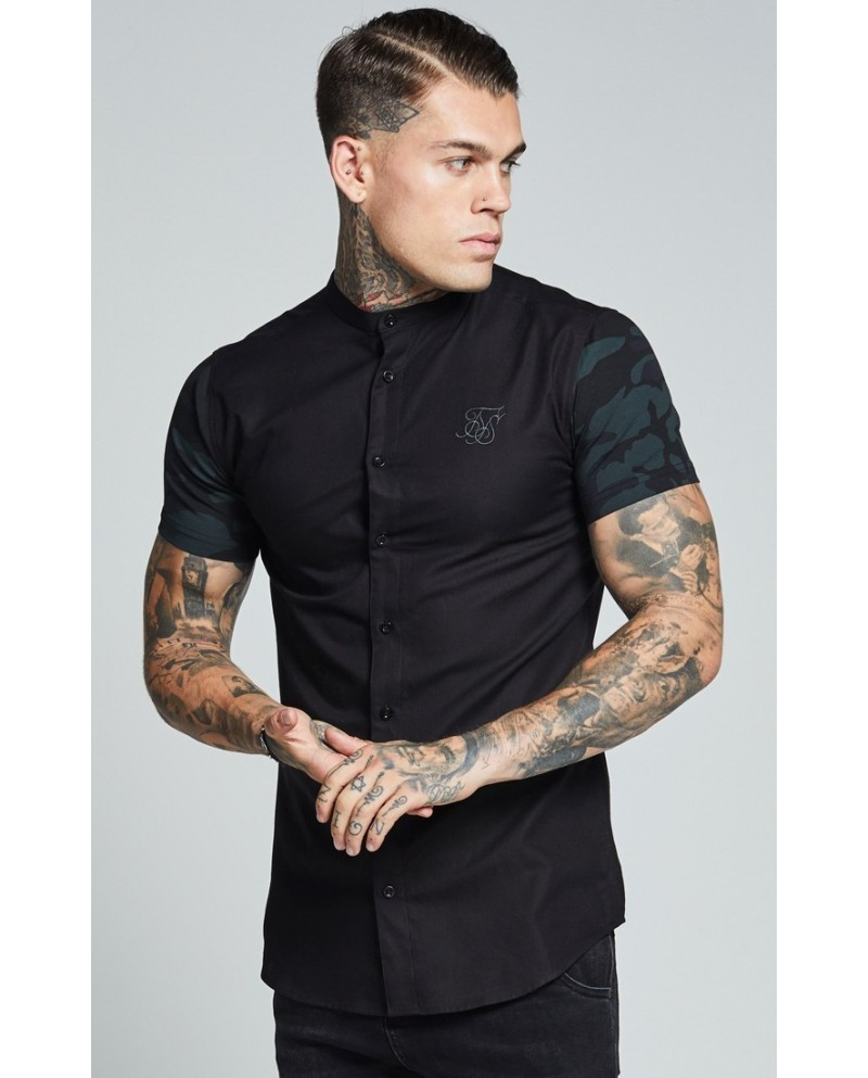 SikSilk Contrast S/S Oxford Shirt