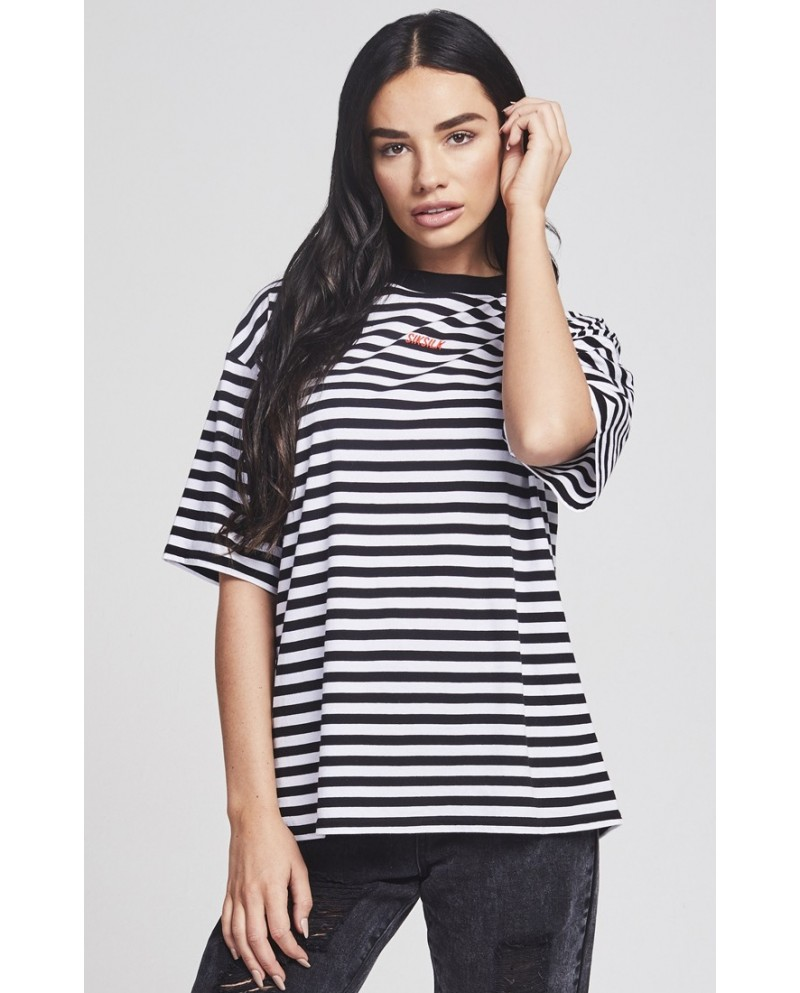 Sik Silk Retro Stripe Tee