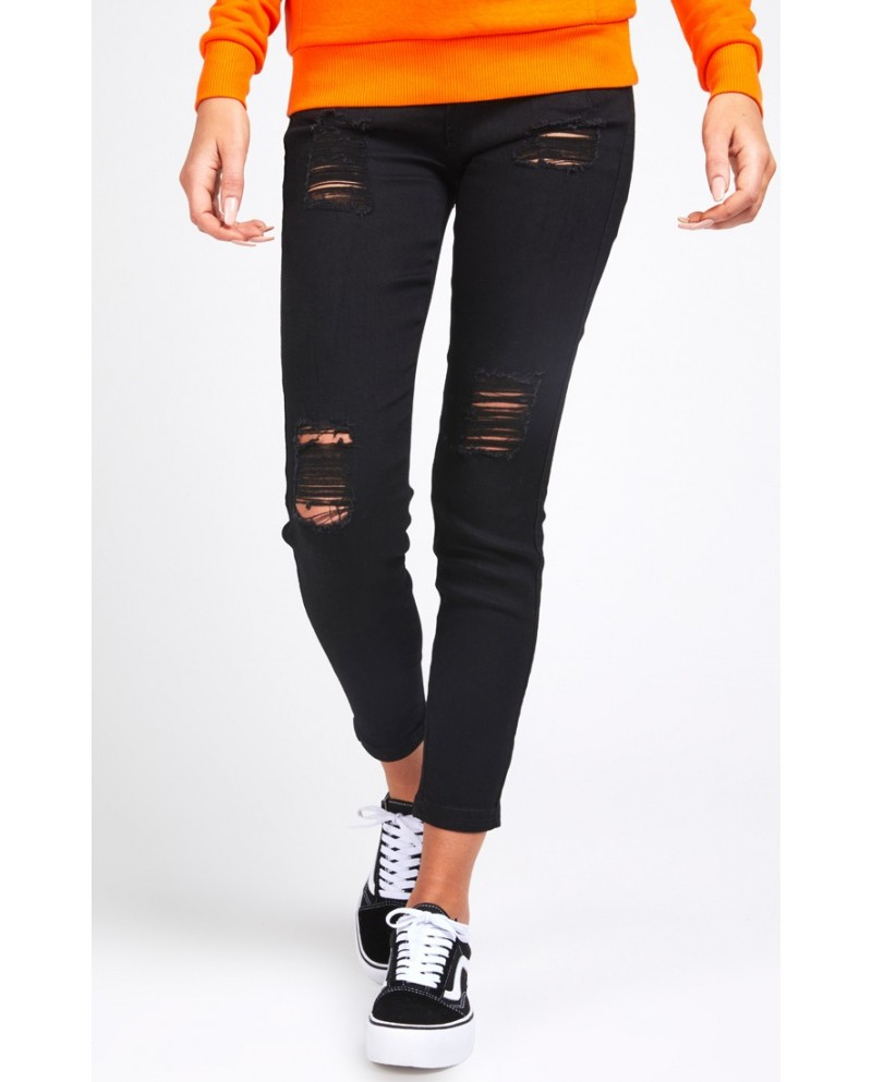 Sik Silk High Waisted Skinny RIP Jeans