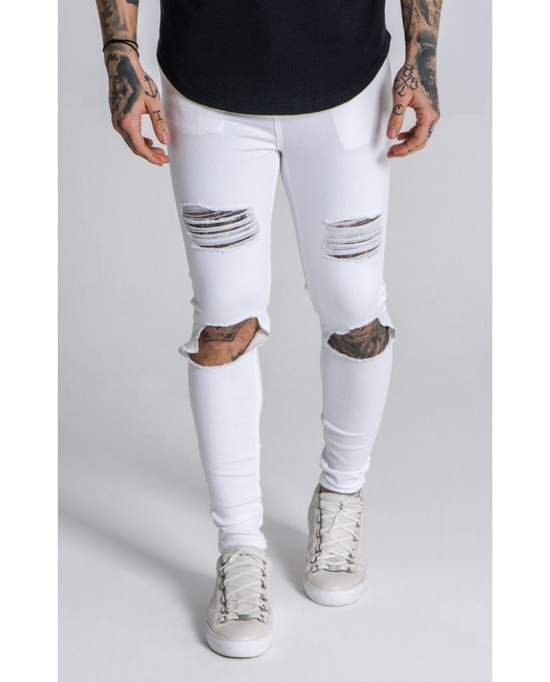 Gianni Kavanagh White Distressed Jeans
