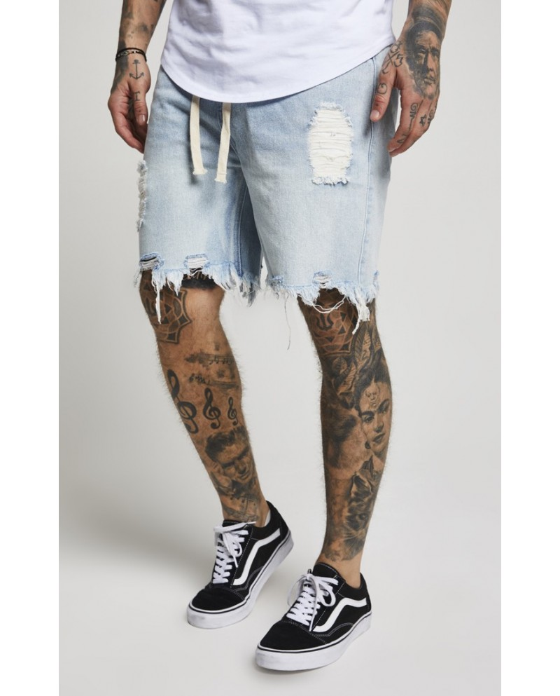 Sik Silk Distressed Denim Shorts
