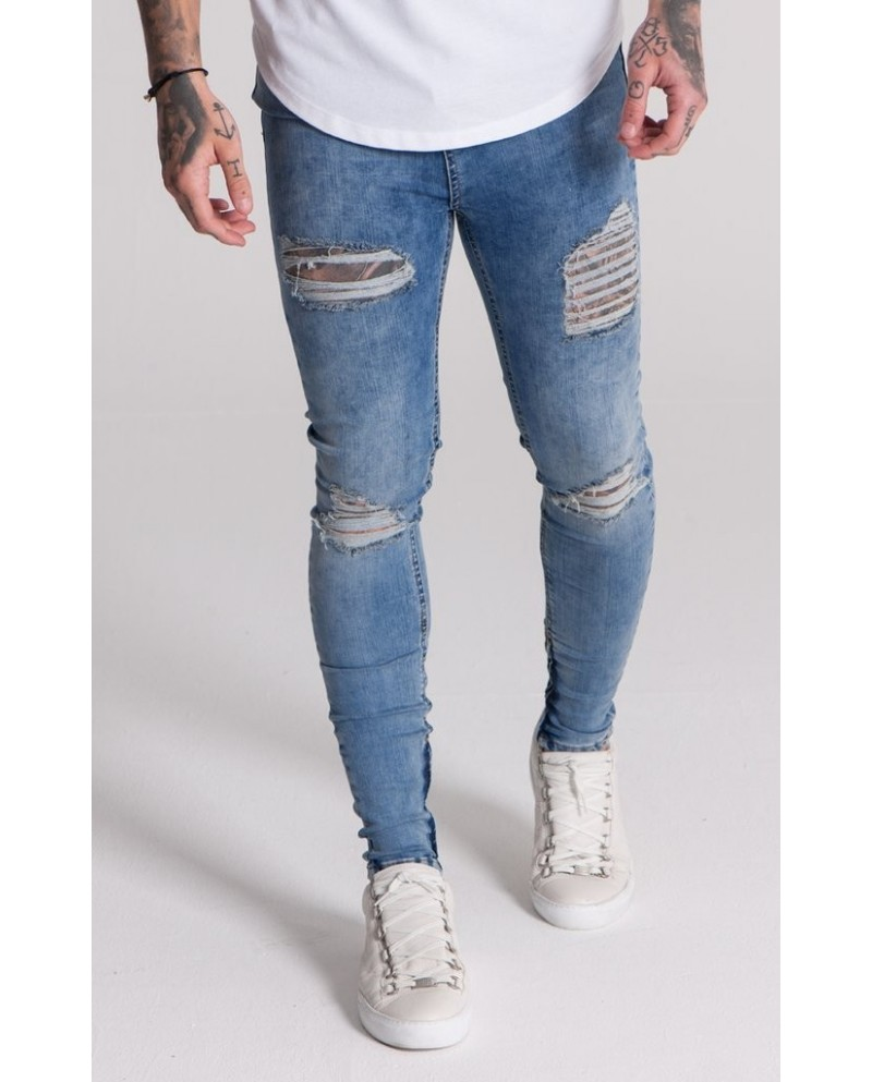 Gianni Kavanagh Blue Destroyed Jeans