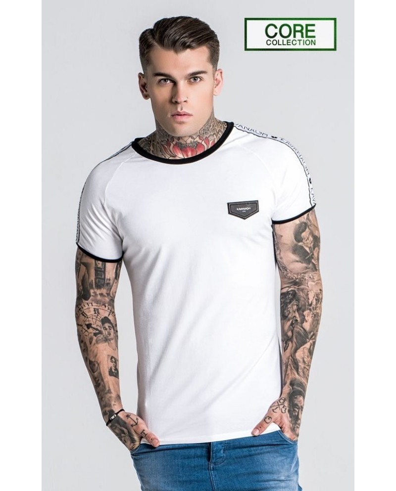 Gianni Kavanagh White Tee with GK Ribbon