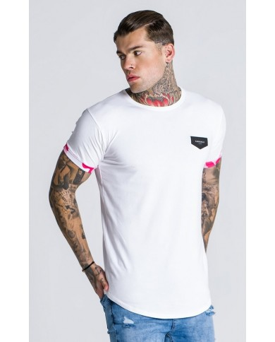 Gianni Kavanagh Tee With Pink Camu Print Detail
