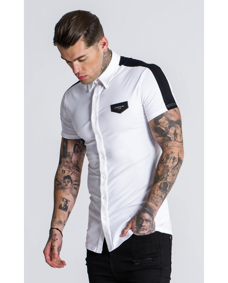 Gianni Kavanagh White and Black Racer Jersey Shirt