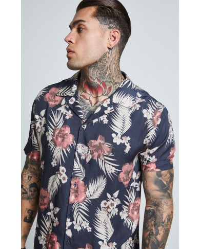 Sik Silk Resort Shirt Navy
