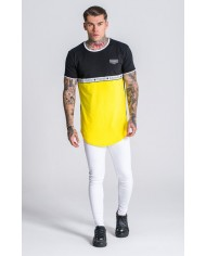 Gianni Kavanagh Black And Yellow Tee With GK Ribbon