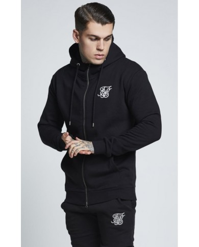 Sik Silk Muscle Fit Zip Through Hoodie