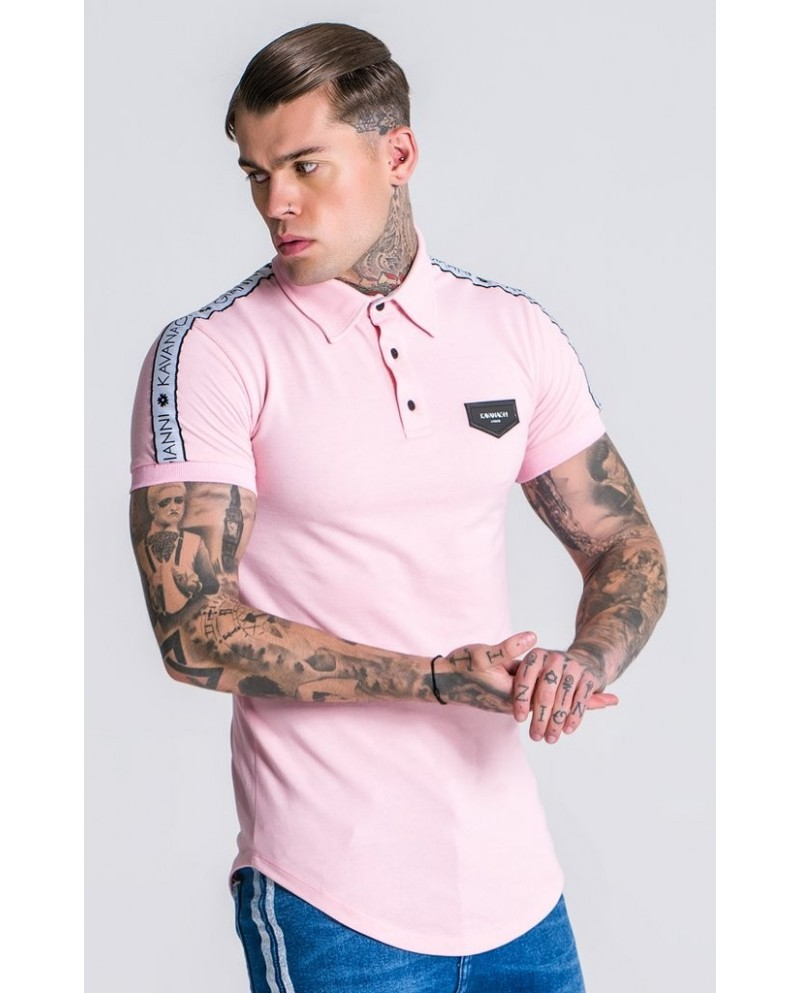Gianni Kavanagh Light Pink Polo GK Ribbon