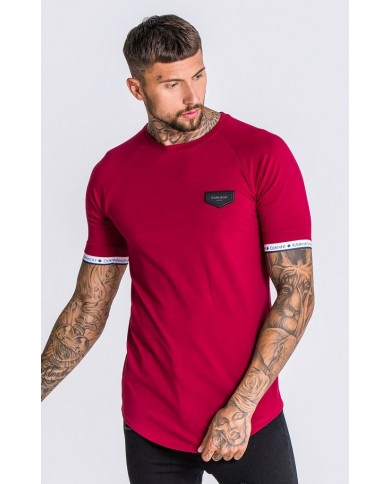 Gianni Kavanagh Burgundy Tee With GK Elastic