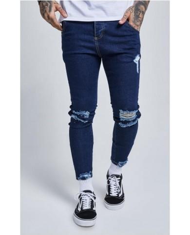 Sik Silk Jagged Hem Jeans