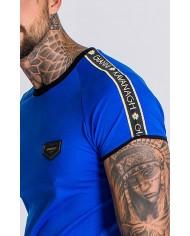 Gianni Kavanagh Royal Blue Tee With Gk Gold Lurex Ribbon