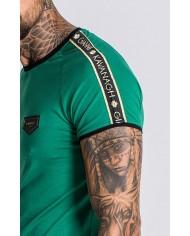 Gianni Kavanagh Green Tee With Gk Gold Lurex Ribbon