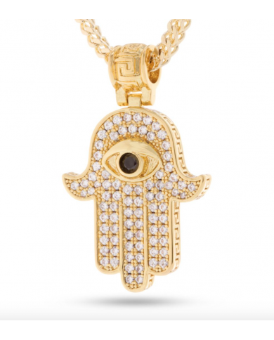 King Ice 14k Hamsa Necklace