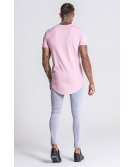 Gianni Kavanagh Light Pink Tee With Gold KAVANAGH
