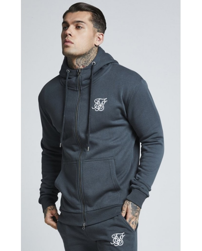 Sik Silk Muscle Fit Zip Up Jacket