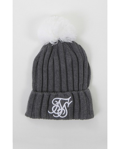 Sik Silk Ribbed Cuff Knit Beanie