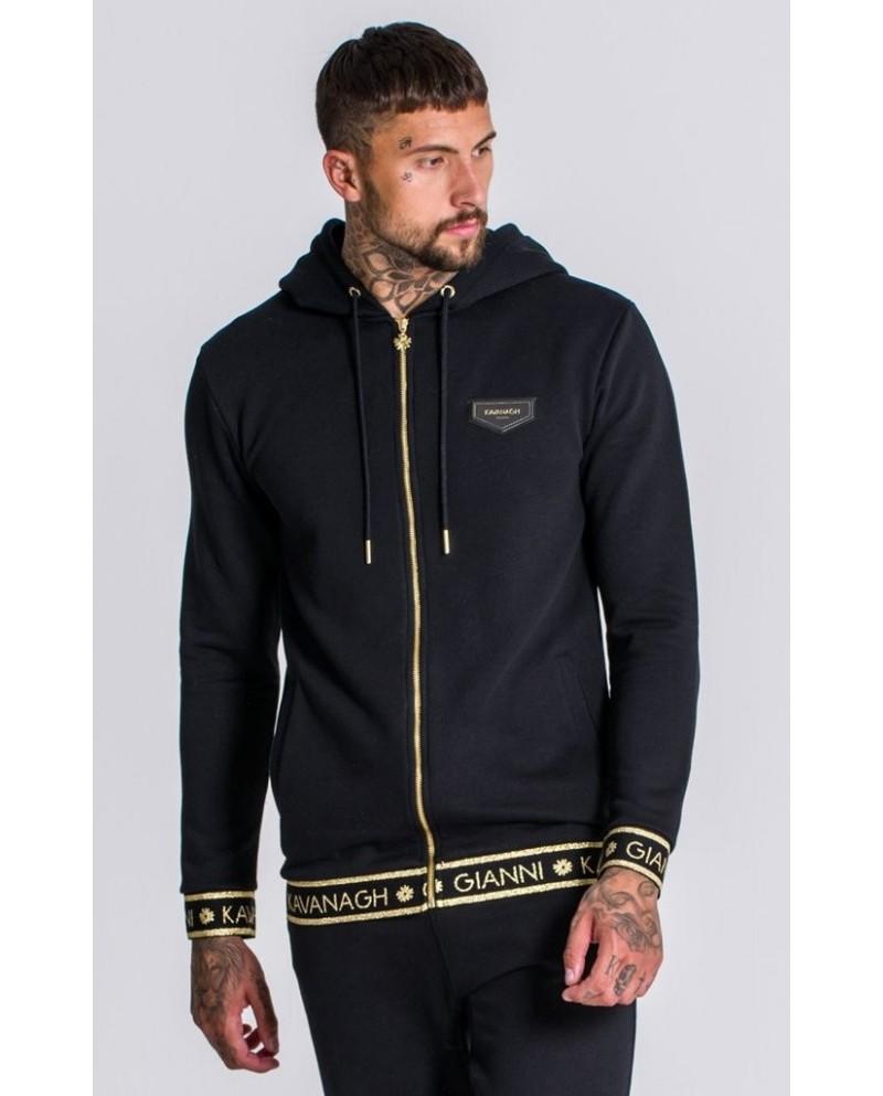Gianni Kavanagh Black Fleece Jacket