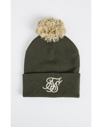 Sik Silk Cuff Knit Bobble Hat