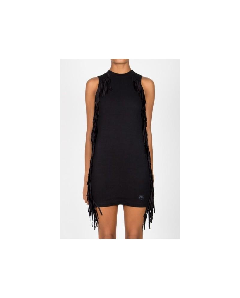 Sixth June Parisiennes Dress Fringe Black