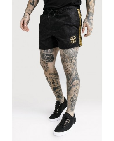 Sik Silk x Dani Alves Gold Tape Swim Shorts