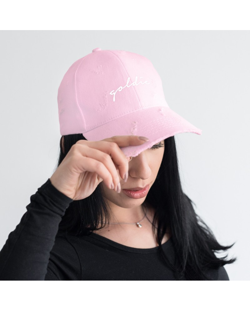 Goldie Ripped Pink Snapback