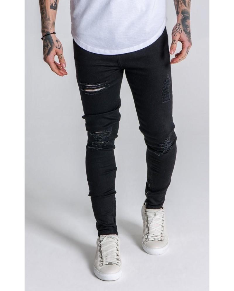 Gianni Kavanagh Black Destroyed Jeans
