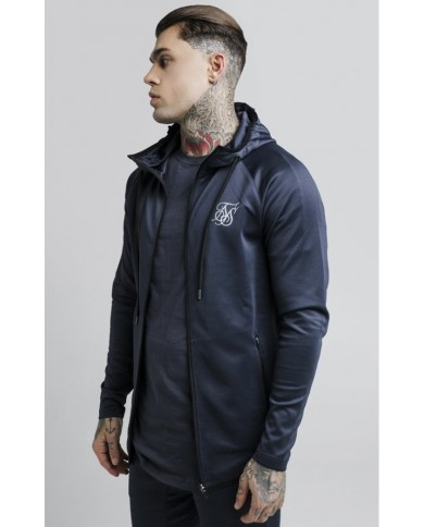 Sik Silk Reflective Sprint Racer Zip Through Hoodie