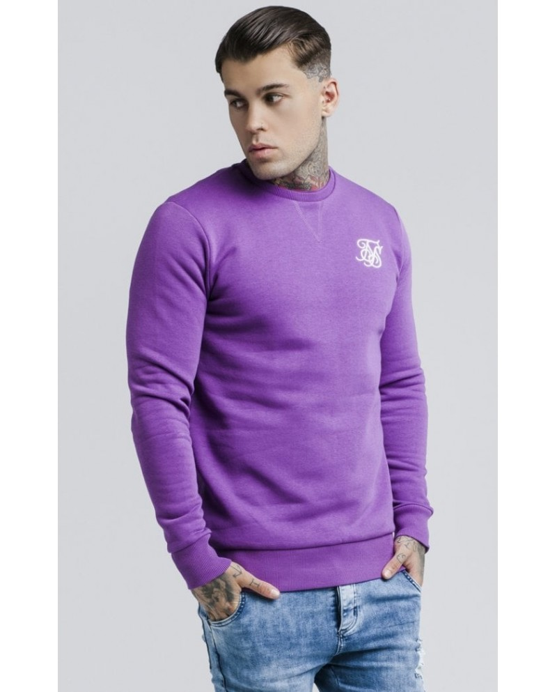 Sik Silk Straight Hem Crew Sweater