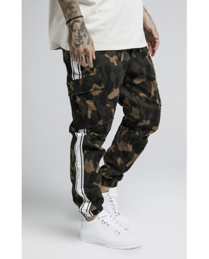 Sik Silk Taped Cargo Pants