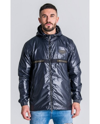 Gianni Kavanagh Black Lightweight Jacket With Gold Ribbon