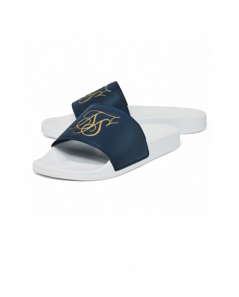 Sik Silk Roma Slides Navy & White